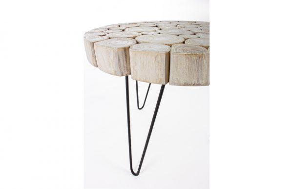 table rondin teck